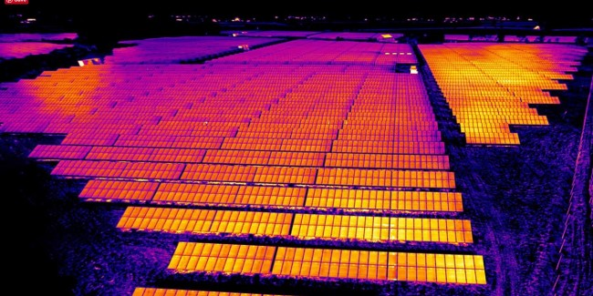 drone solar thermal inspection