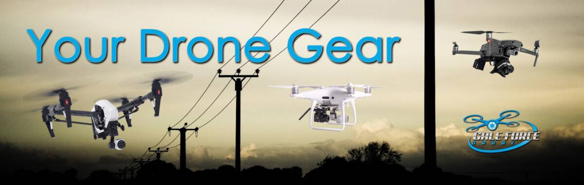 drone gear for powerline inspection