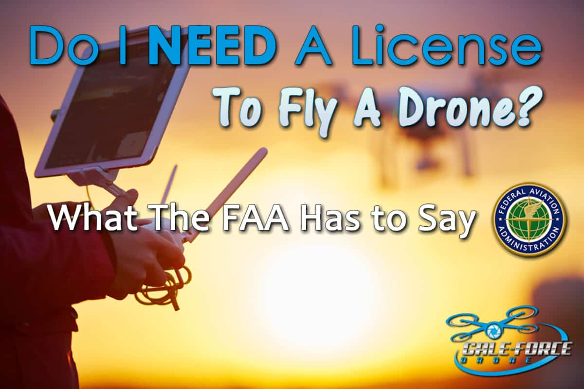 do i need a license to fly a drone