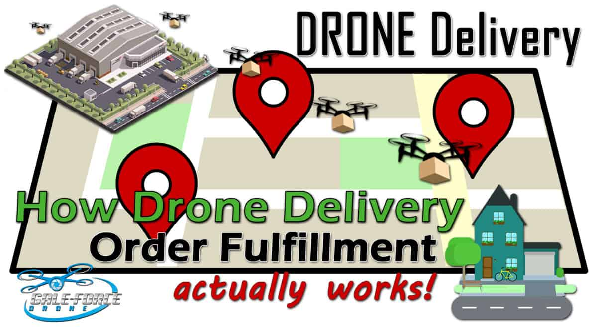 How Drone Delivery And Order Fulfillment Works