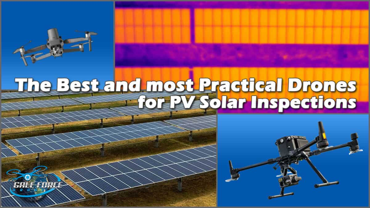 If you are researching the best and most practical drones for PV Solar Inspections, the following are my top picks ranked by the combination of specs, ease of use and price.